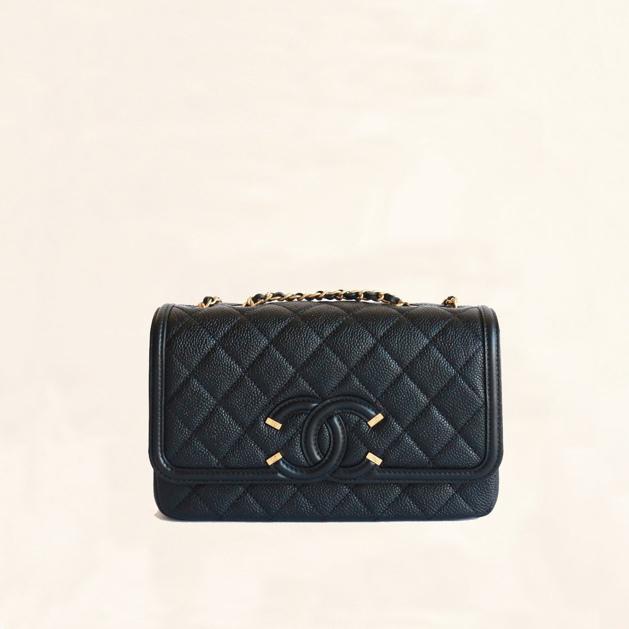d6fadd723f0b1e Chanel | Caviar SS16 Quilted Filigree Flap Bag | Small - The-Collectory
