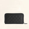 Chanel | Caviar So Black Boy Long Zip Wallet | Large - The-Collectory