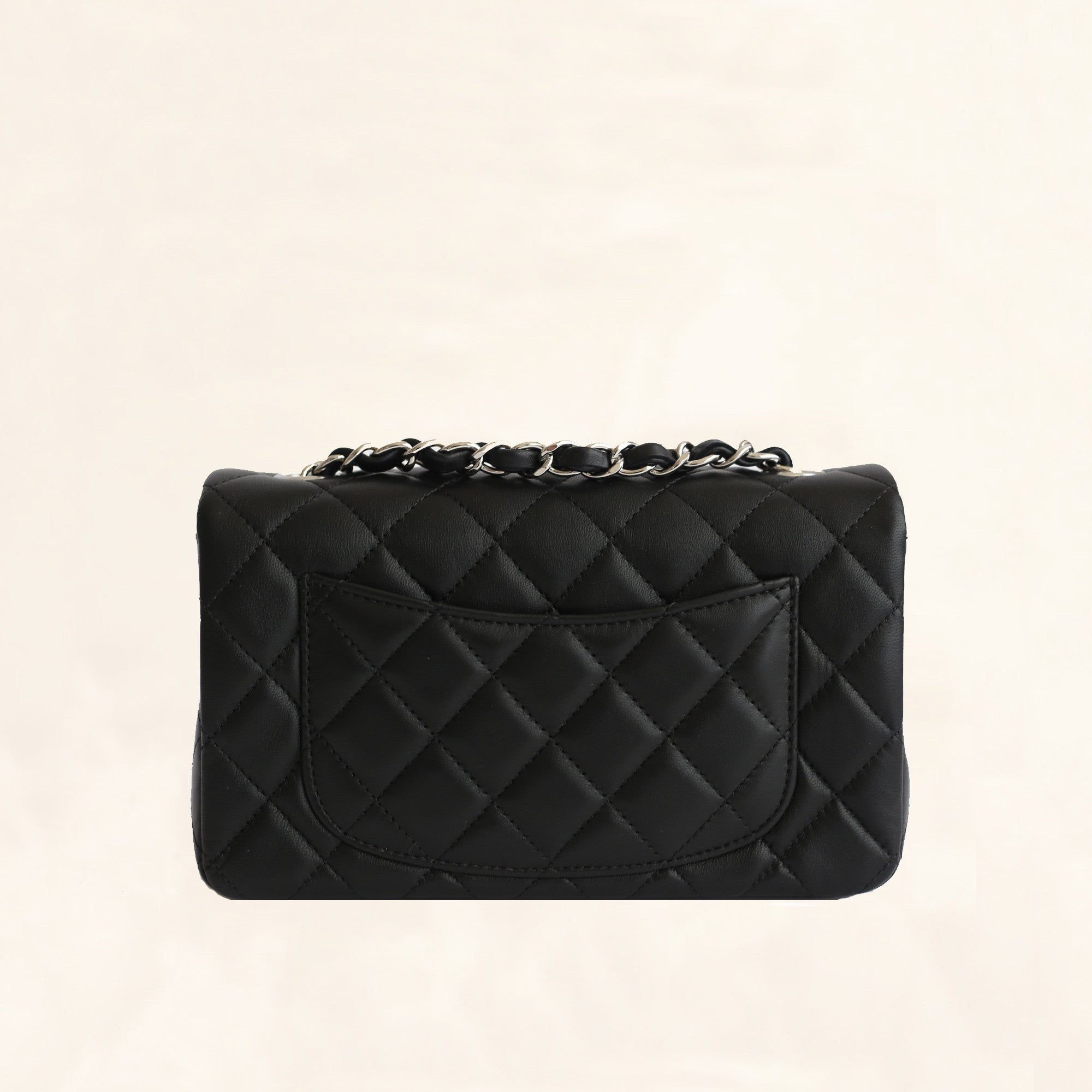 dc9979811c9774 Chanel | Lambskin Classic Flap with Silver Hardware | Mini - The-Collectory