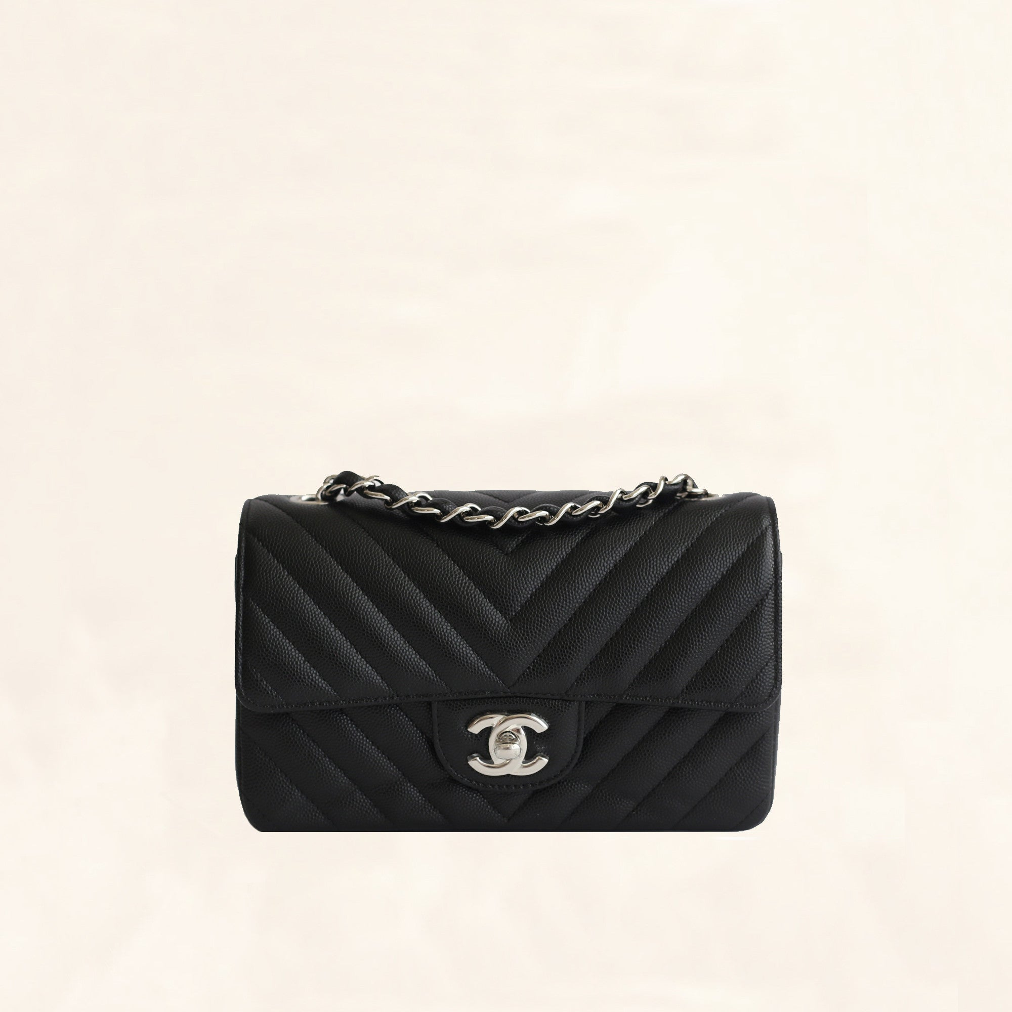 591510a56207 Chanel | Caviar Rectangular Flap Bag | Mini - The-Collectory