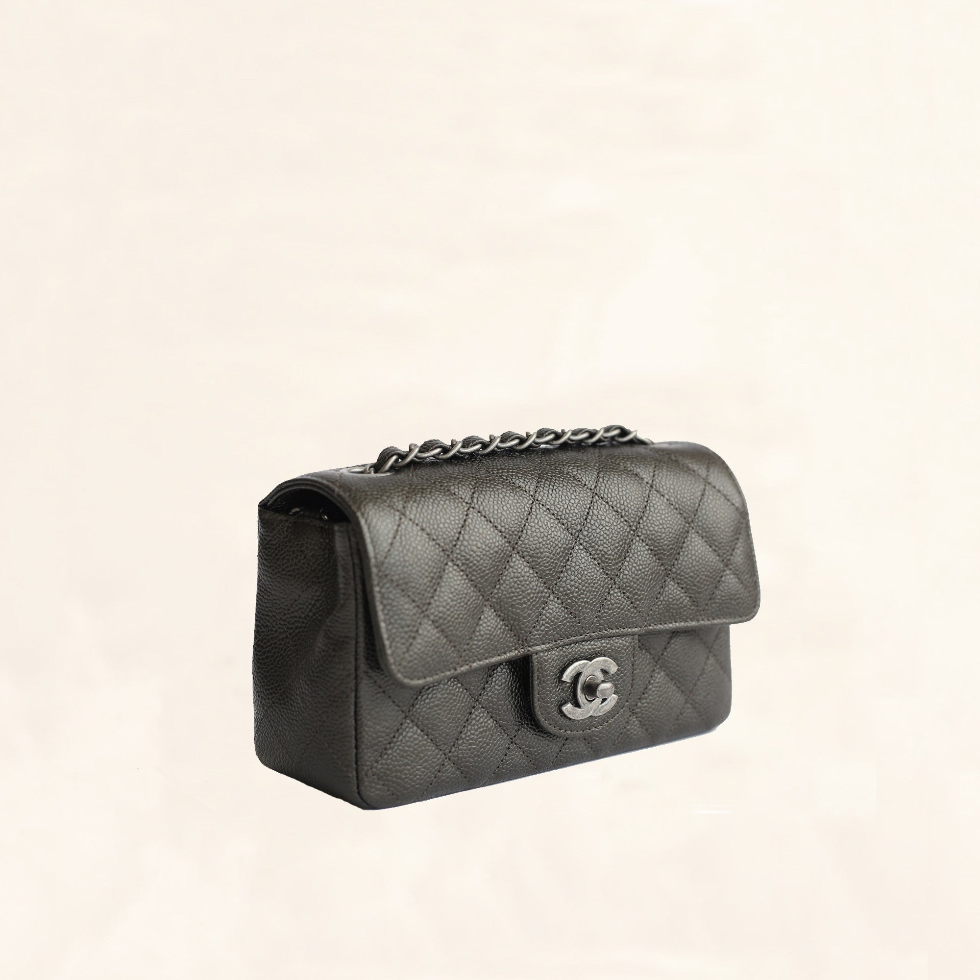 bf6a237c1d0 Chanel   Caviar Mini Rectangular Flap Bag   Black - The-Collectory