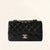 Chanel | Black Caviar Mini Rectangular Flap Bag with Light Gold Hardware