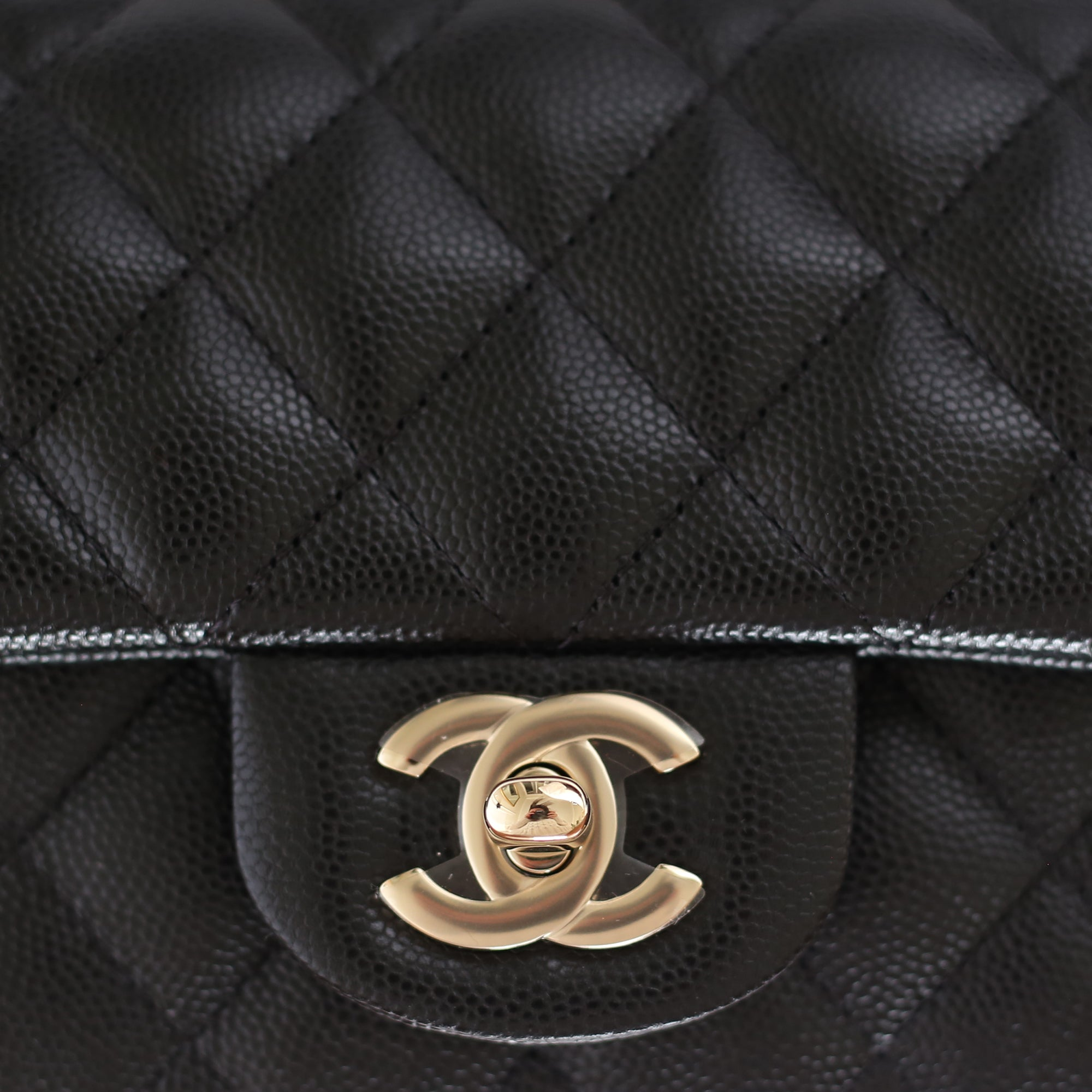 97f94aed1bb5 Chanel | Black Caviar Mini Rectangular Flap Bag with Light Gold Hardware -  The-Collectory