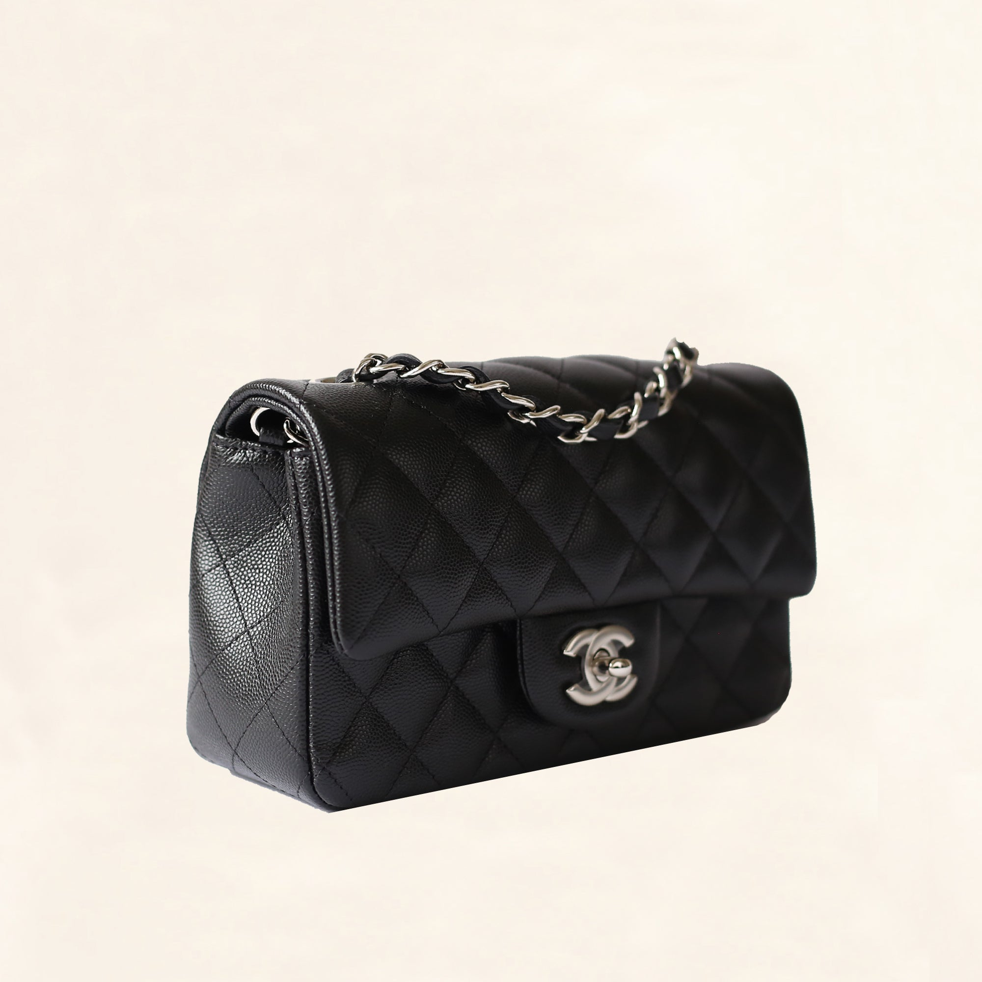 e3152a2057ac63 Chanel | Caviar Mini Rectangular Flap Bag | Black with Silver Hardware -  The-Collectory