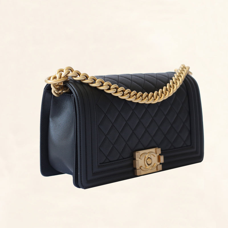 d64a22025124 Chanel | Caviar Boy Bag with Aged Gold Hardware | Old Medium - The ...