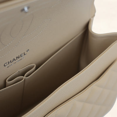 Chanel | Beige Caviar Classic Double Flap Bag | Jumbo - The-Collectory
