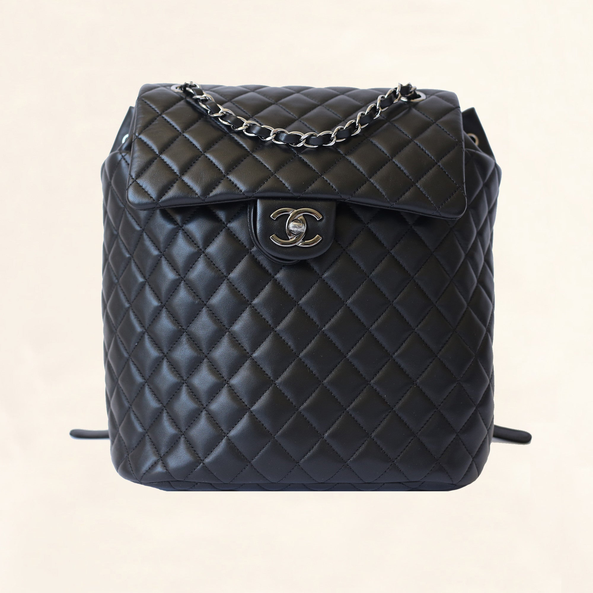 a93c83eda8d0 Chanel | Quilted Lambskin Urban Spirit Backpack | Large - The-Collectory