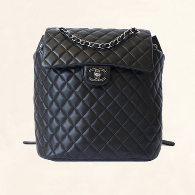 Chanel | Quilted Lambskin Urban Spirit Backpack | Large - The-Collectory