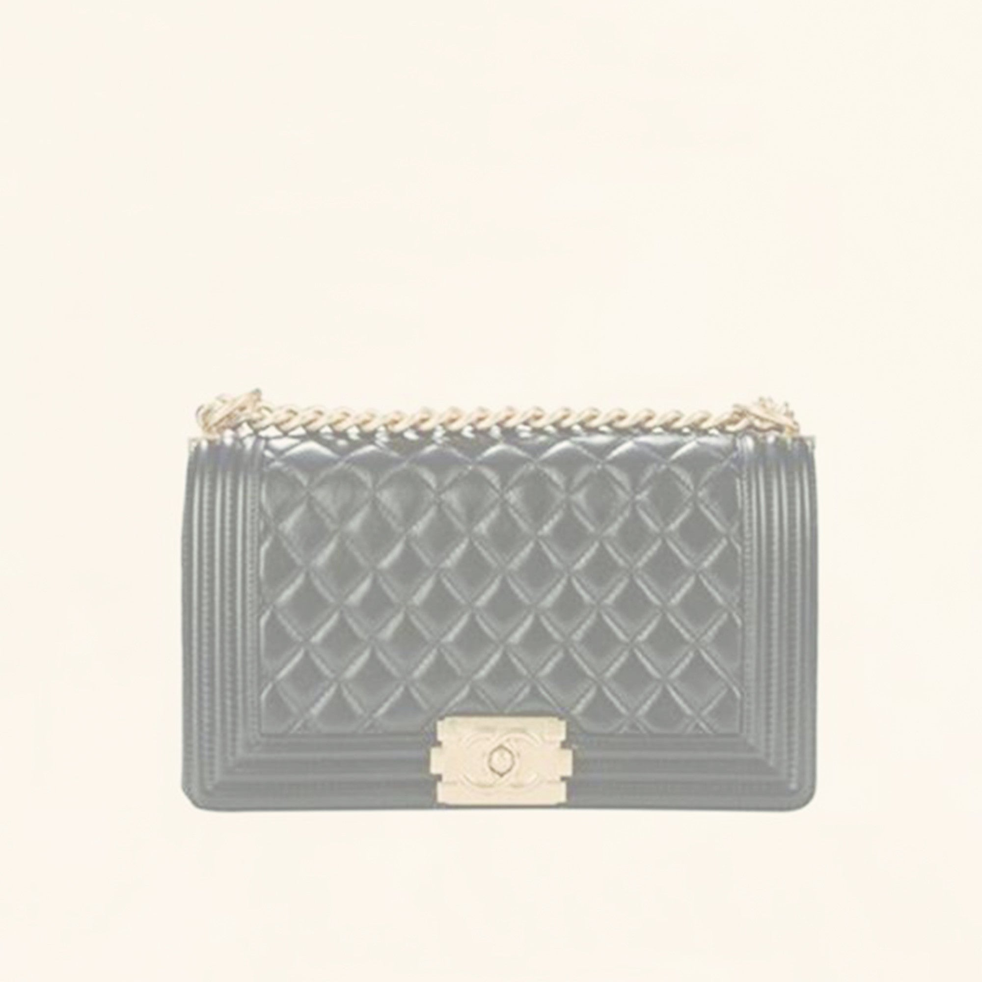 544def0abcf5 Chanel | Quilted Lambskin Boy Flap Bag | Old Medium - The-Collectory