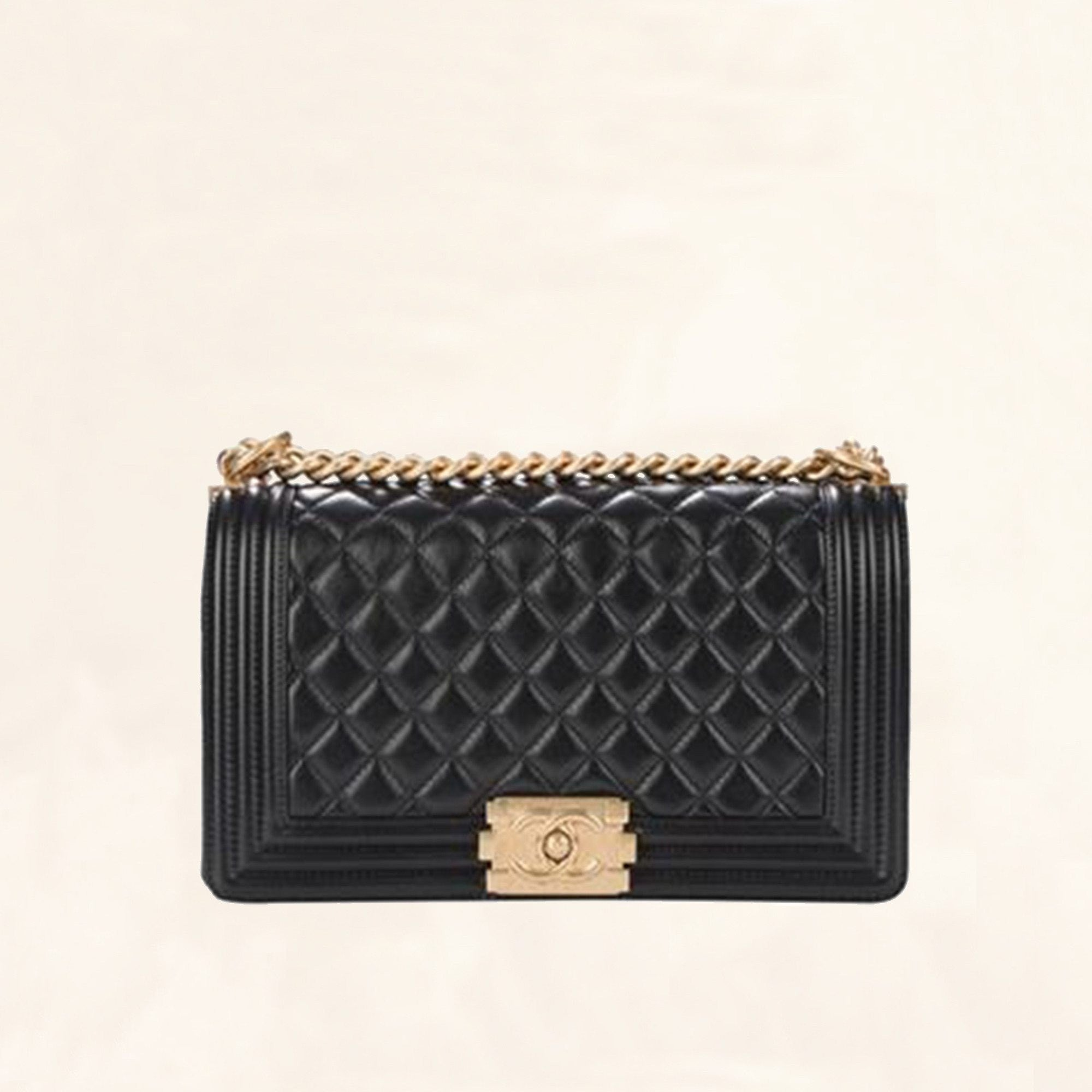Quilted Lambskin Boy Flap Bag | Old Medium - The-Collectory : chanel quilted boy - Adamdwight.com