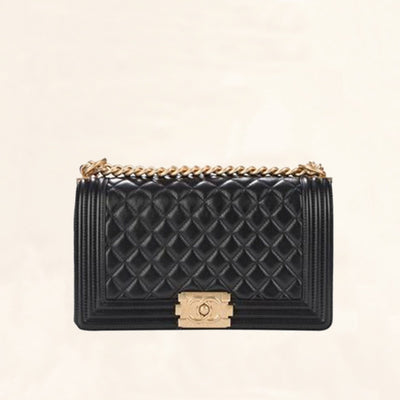 Chanel | Quilted Lambskin Boy Flap Bag  | Old Medium - The-Collectory
