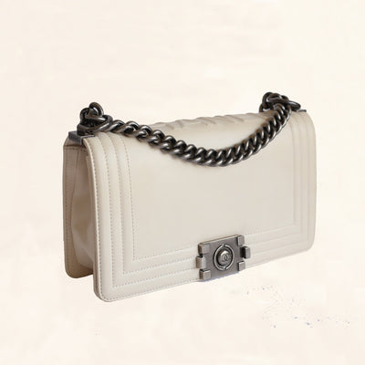 Chanel | Calfskin Boy Bag | Old Medium - The-Collectory