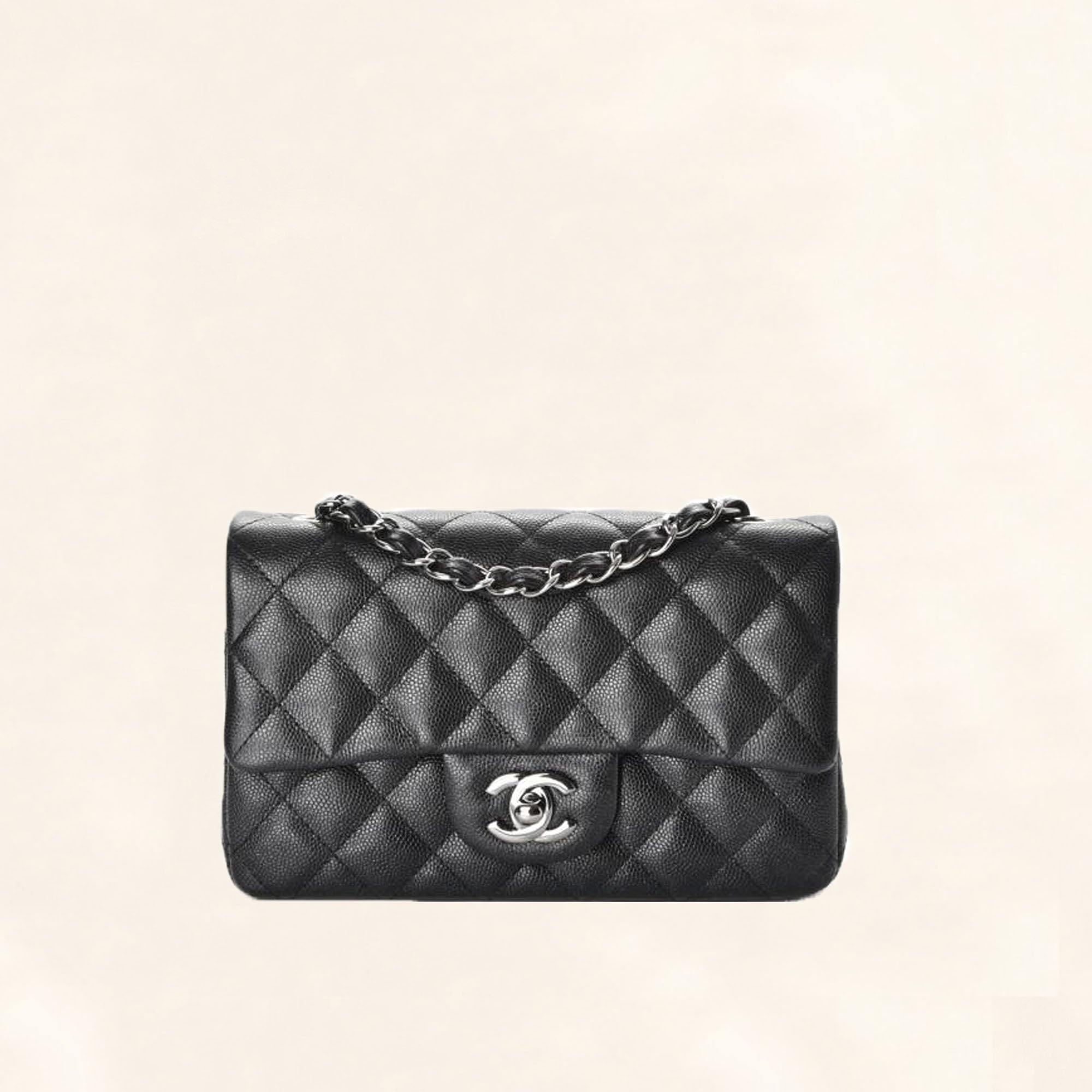 ced42168ff71 Chanel | Caviar Mini Rectangular Flap Bag | Black - The-Collectory