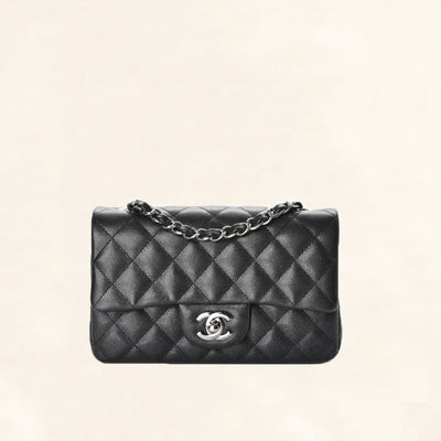 Chanel | Caviar Mini Rectangular Flap Bag | Black - The-Collectory