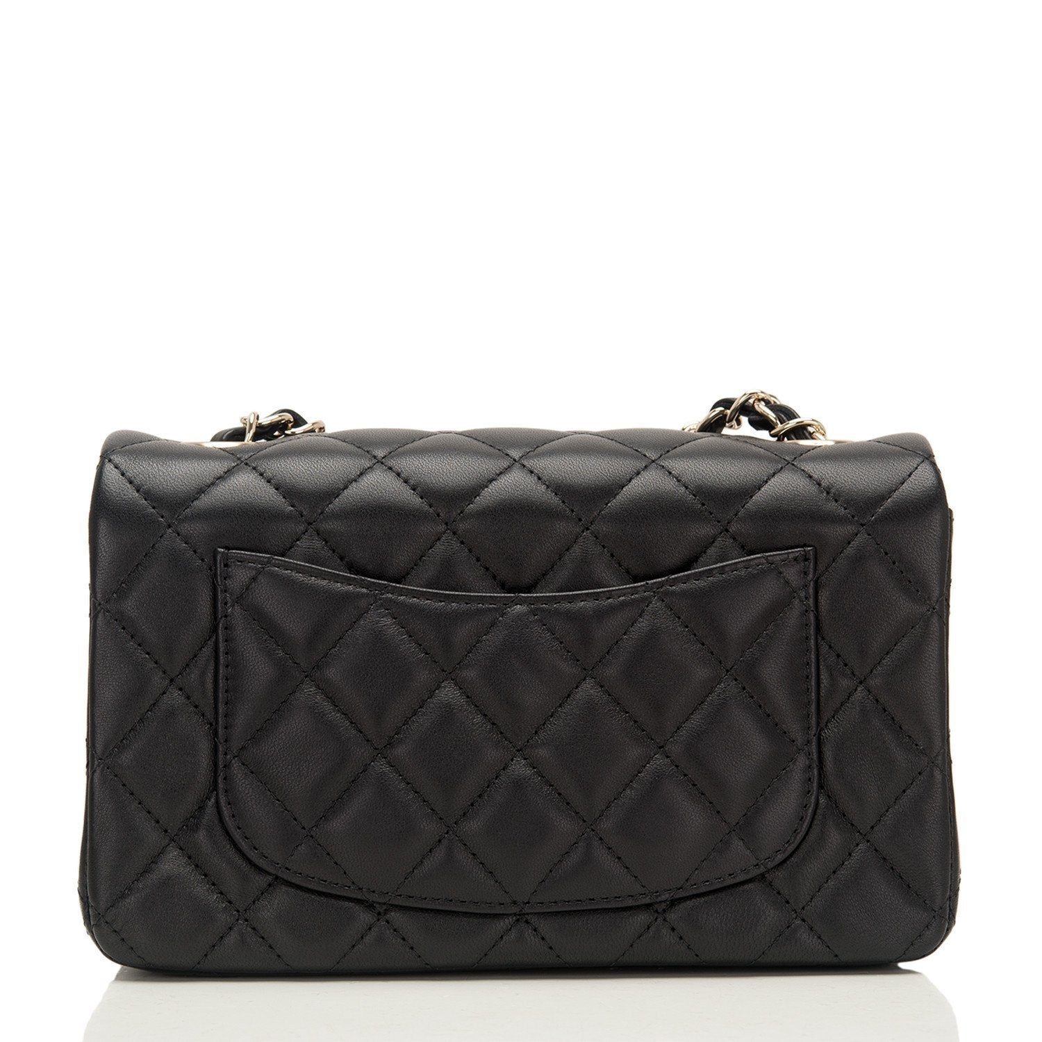 d071b3a32345 Chanel | Lambskin Mini Rectangular Classic Flap with Gold Hardware -  The-Collectory