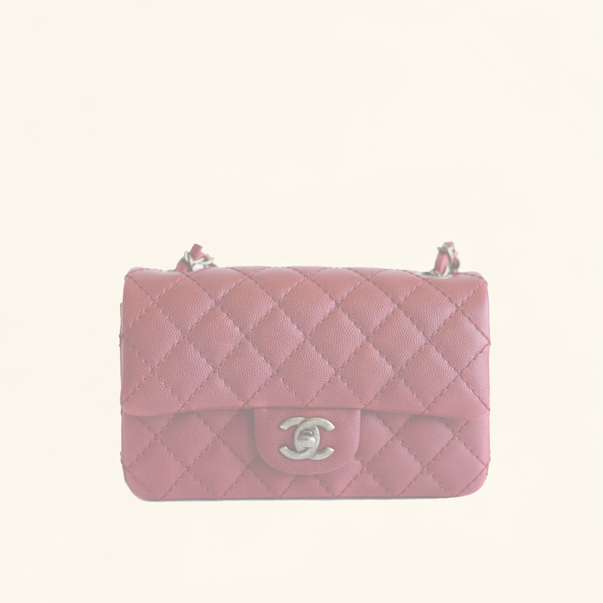 a97d586ea880 Chanel | Caviar Rectangular Classic Flap in Red | Mini - The-Collectory
