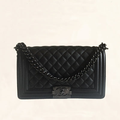 Chanel | Iridescent Caviar So Black Boy Bag | Old Medium - The-Collectory