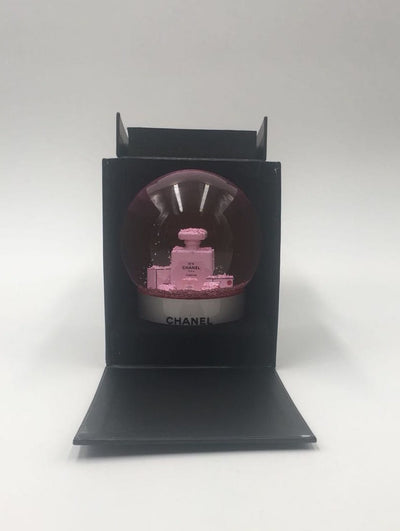 Chanel | Pink Snow Globe Perfume Shopping Bag | Medium - The-Collectory