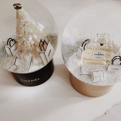 Chanel | Snow Globe Christmas Tree & Presents | Large - The-Collectory