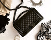 Chanel | Aged Calfskin So Black Boy Bag | Medium - The-Collectory