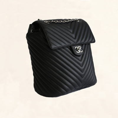 8e360ae8f2e6 Chanel | Chevron Urban Spirit Backpack with Silver Hardware | Large -  The-Collectory