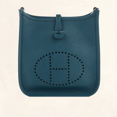 Hermès | Clemence Evelyne III in Colvert Turquoise | PM - The-Collectory