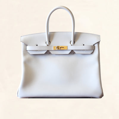 Hermès |Gris Perle Swift Birkin with Gold Hardware| 35 - The-Collectory