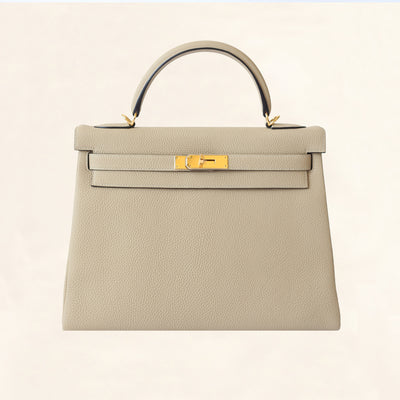 Hermès | Trench Togo Retourne Kelly - Gold Hardware | 32 - The-Collectory