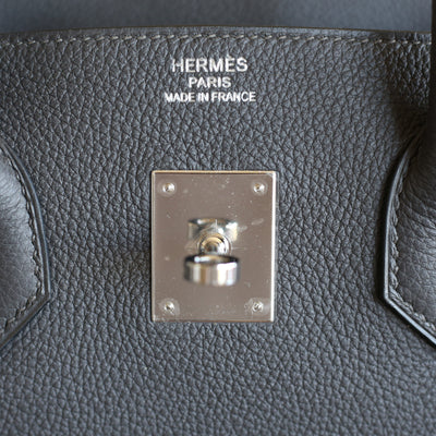 Hermès | Graphite Togo Birkin with Palladium Hardware | 35
