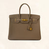 Hermès Etoupe Togo Birkin 35 with Gold Hardware - The-Collectory