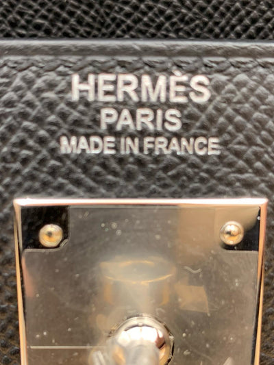 Hermes Black Epsom Kelly Sellier 32 Palladium Hardware - The-Collectory