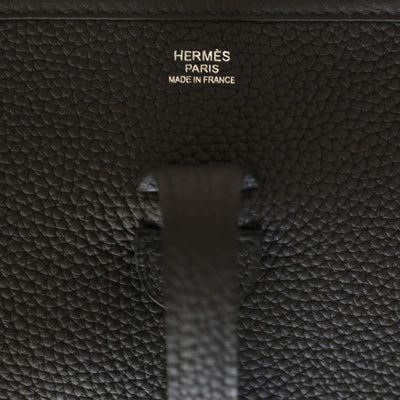Hermes Clemence Evelyne III PM Black Noir - The-Collectory