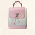 Louis Vuitton | Perforated Pink Calfskin Lockme Backpack | One-Size
