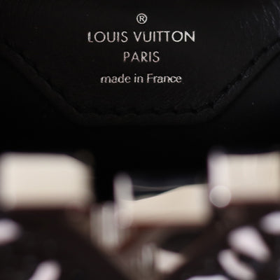 Louis Vuitton | Black and White Plaited Leather Capucines | BB - The-Collectory