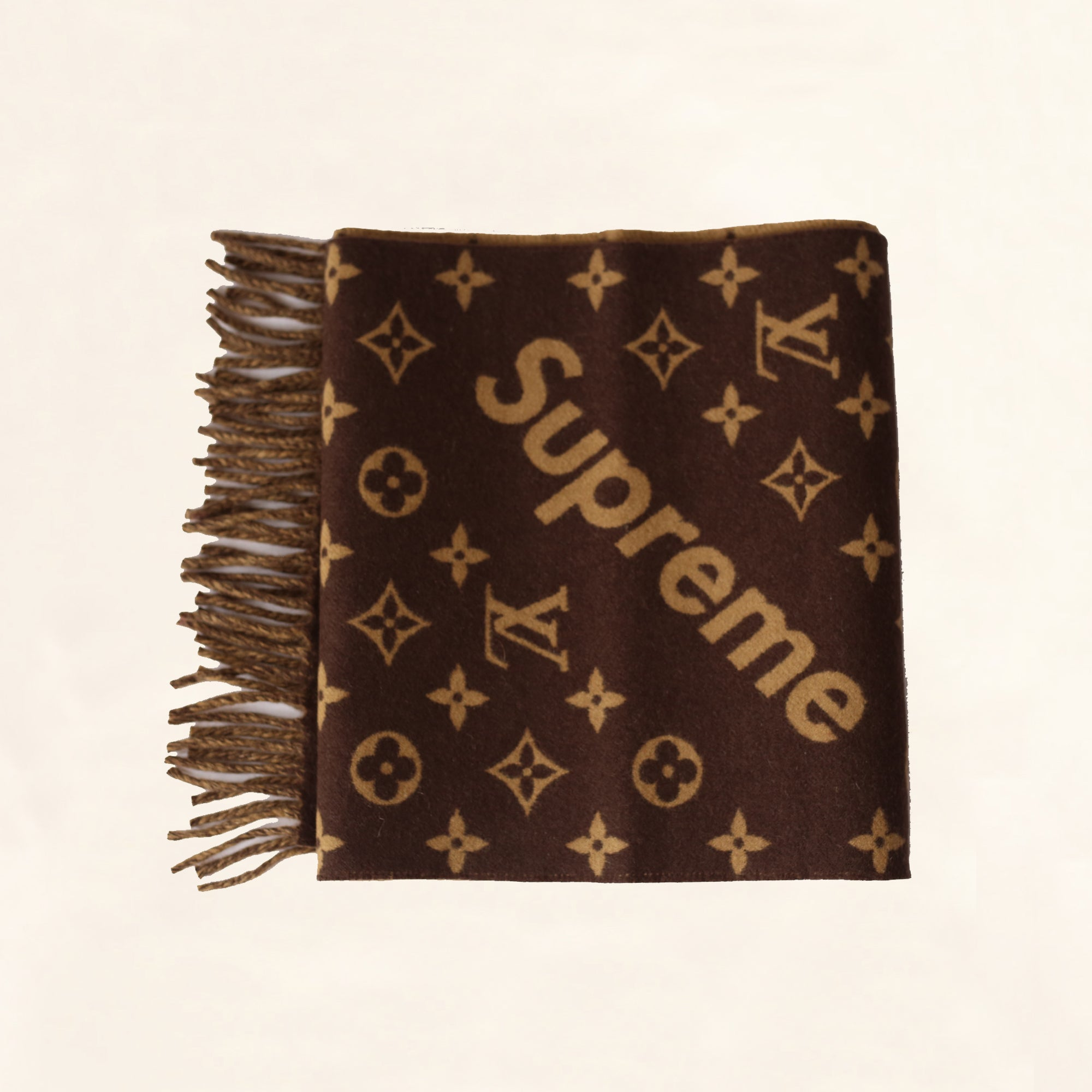 louis vuitton supreme scarf brown the collectory. Black Bedroom Furniture Sets. Home Design Ideas