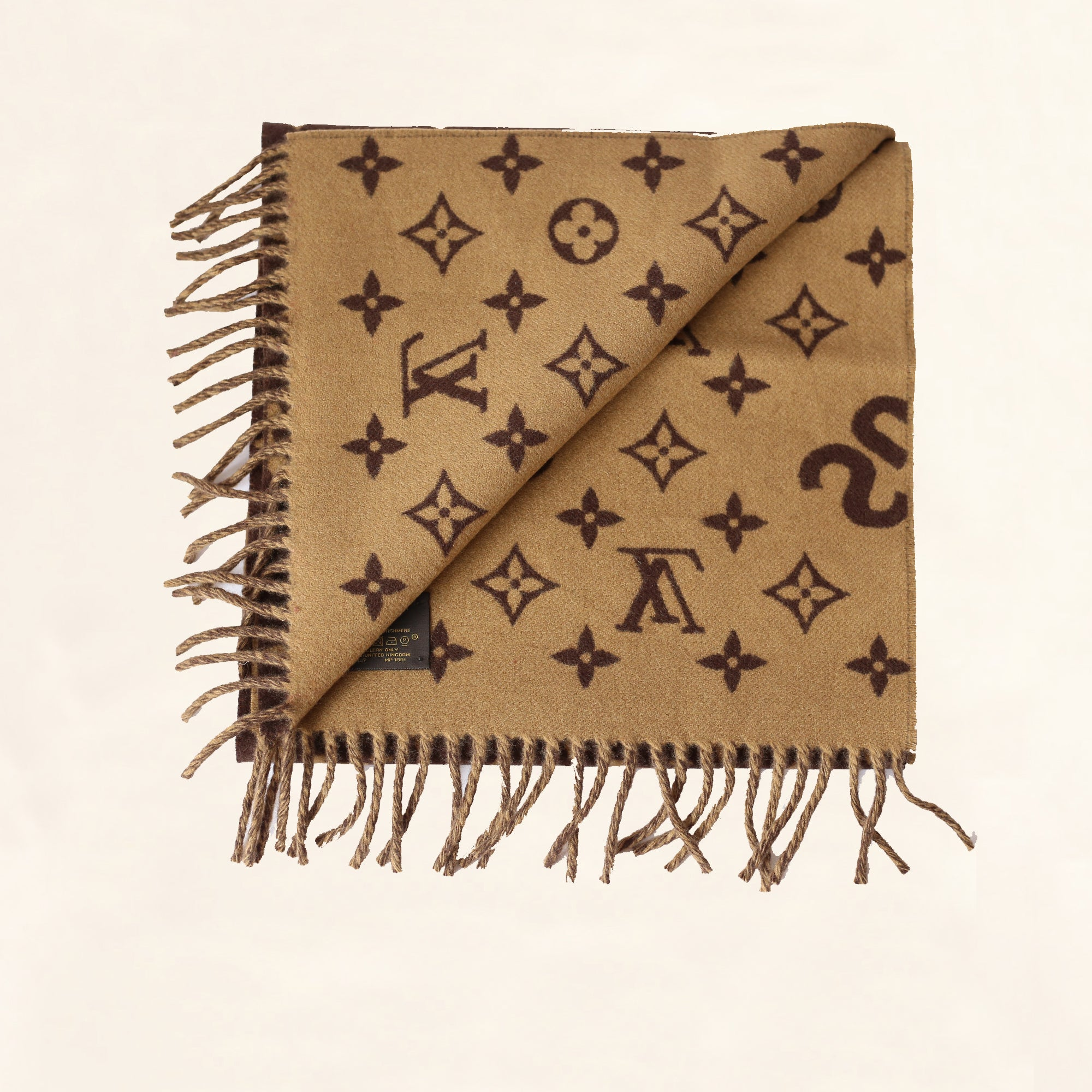 d0153a3373b2 Louis Vuitton | Supreme Scarf | Brown - The-Collectory