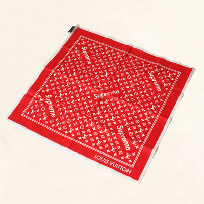 Louis Vuitton | Supreme Bandana | Red - The-Collectory