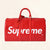 Louis Vuitton | Supreme Red Epi Keepall Bandouliere Duffle Bag | 45