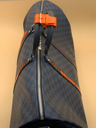 Louis Vuitton | Damier Cobalt Race Keepall Bandouliere 55 | N40167 - The-Collectory