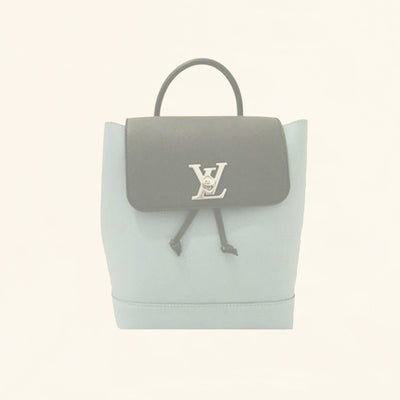 Louis Vuitton | Calfskin Lockme Backpack | Pastel Baby Blue - The-Collectory