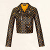 Louis Vuitton Monogram Printed Leather Biker Jacket 1A4Z18 - The-Collectory