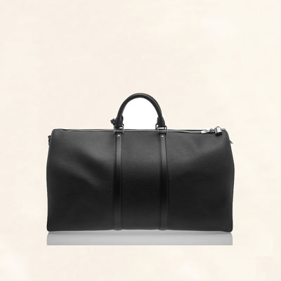 Louis Vuitton | Supreme Black Epi Keepall Bandouliere Duffle Bag | 55 - The-Collectory