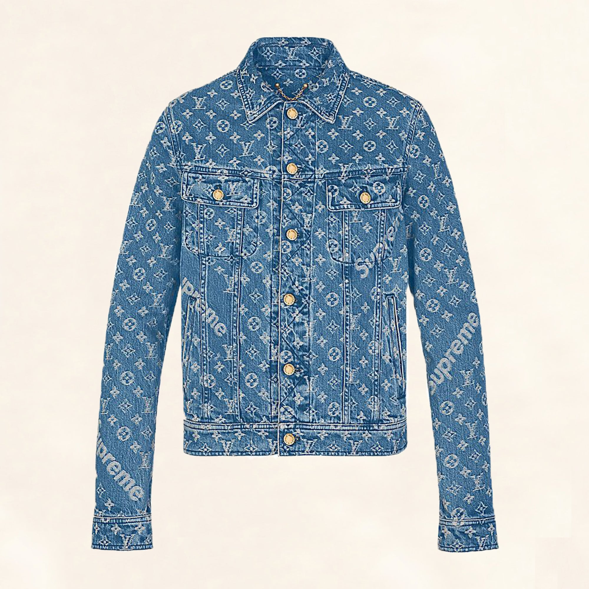 707f8aec7b5 Louis Vuitton | Supreme Denim Monogram Jacket | 56