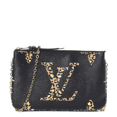 Louis Vuitton | Monogram Giant Jungle Pochette Double Zip Black | M67874 - The-Collectory