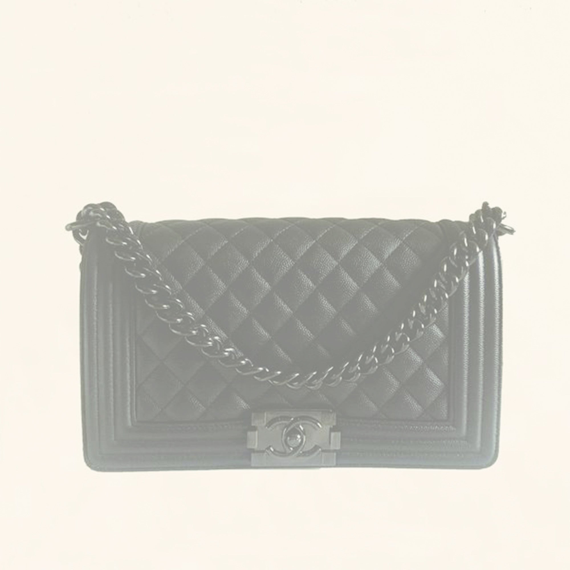 b553fe340aa3 Chanel | Iridescent Caviar So Black Boy Bag | Old Medium - The-Collectory