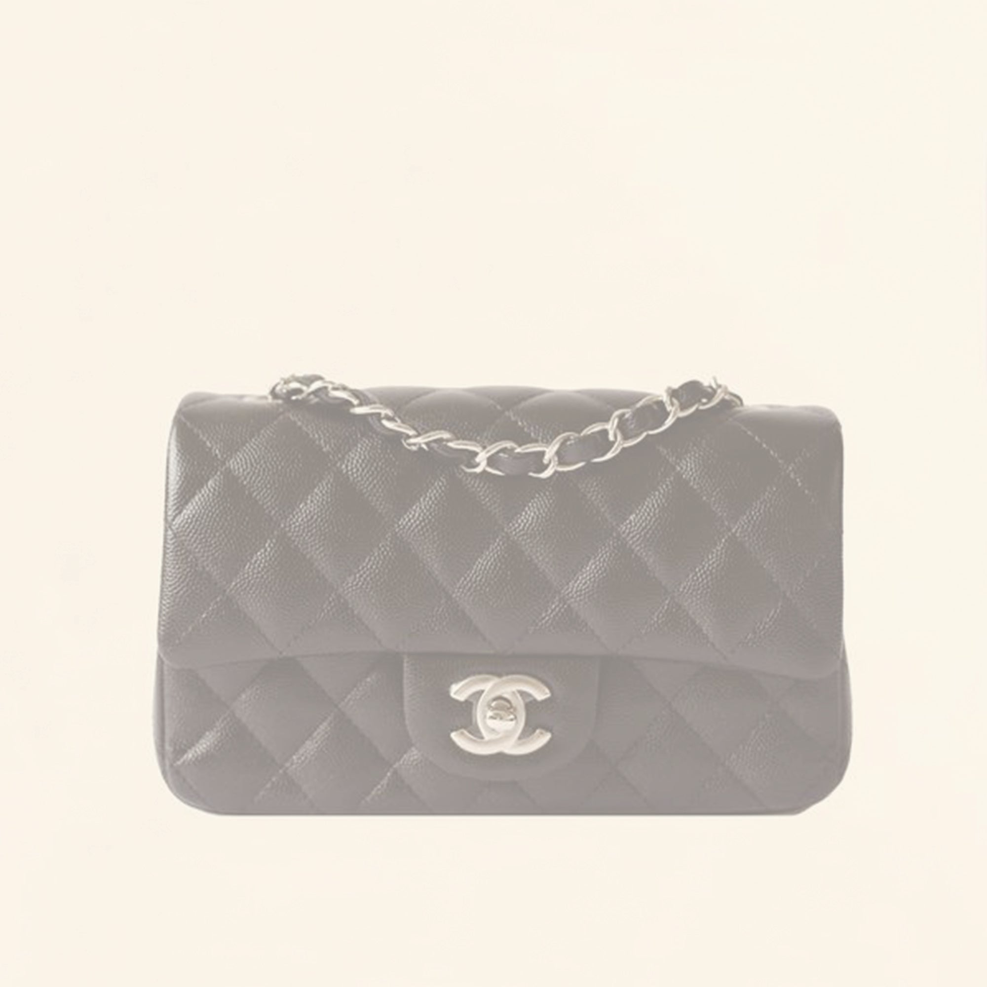 ec0418983500 Chanel | Caviar Mini Rectangular Flap Bag | Black with Silver Hardware -  The-Collectory