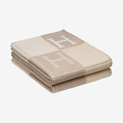 Hermes | Blanket Avalon Signature H Coco and Camomille Throw Blanket - The-Collectory