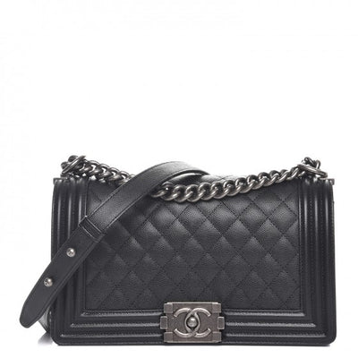Chanel | Caviar Boy Bag with Ruthenium Hardware | Old Medium - The-Collectory