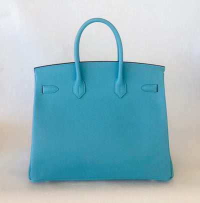 Hermès |Turquoise Birkin with Gold Hardware | 35 - The-Collectory
