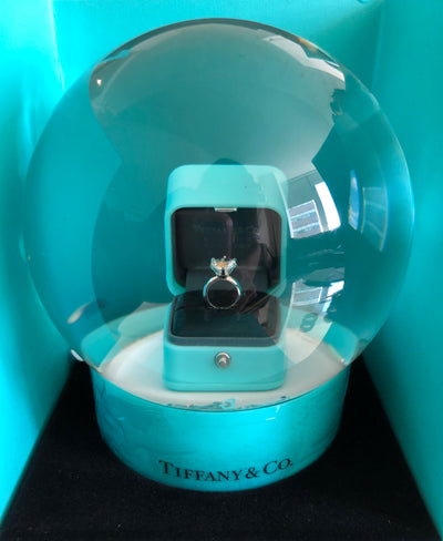 Tiffany & Co | Rare Proposal Diamond Ring Snow globe | Small - The-Collectory